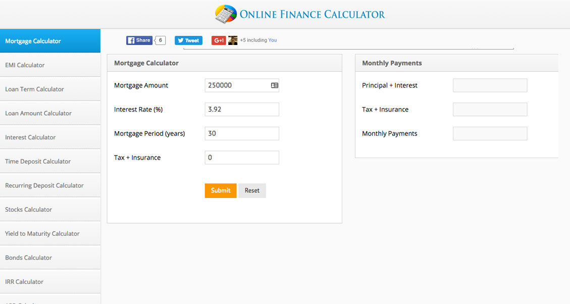 finance calc