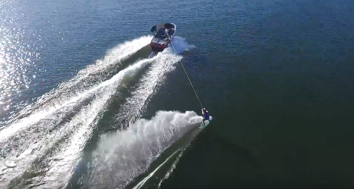 wakeboarding drone